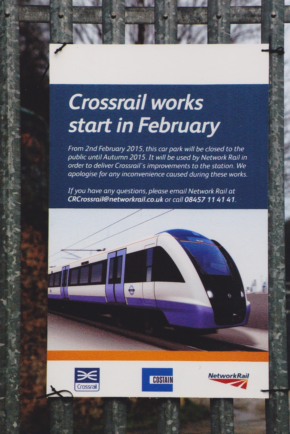 CROSSRAIL POSTER BRENTWOOD  31-1-15