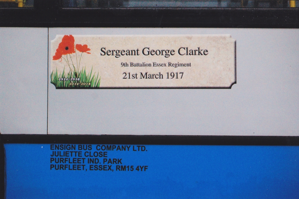 PX12BSY 703 ENSIGN SGT GEORGE CLARKE  30-5-15