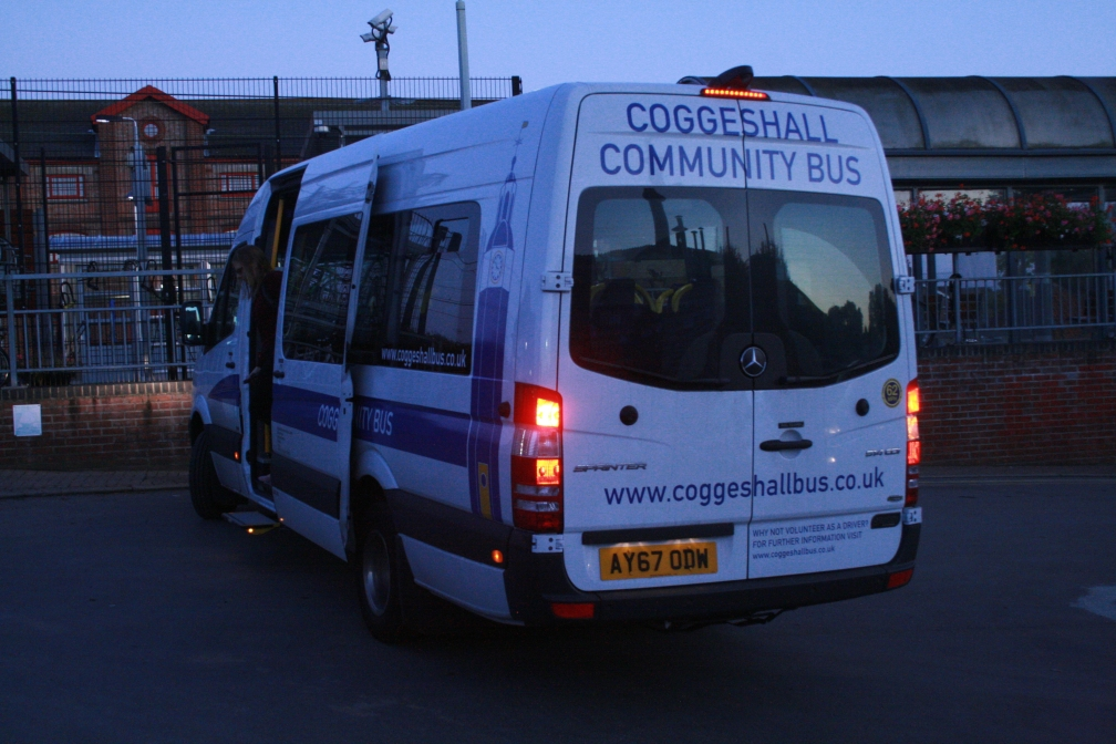 AY67ODW COGGESHALL COMM BUS (KN RLY STN) 3-10-17