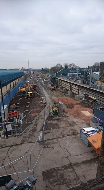 NORTHUMBERLAND PARK STATION WORK (EAST SIDE) 5-12-17 (A HAZELL)
