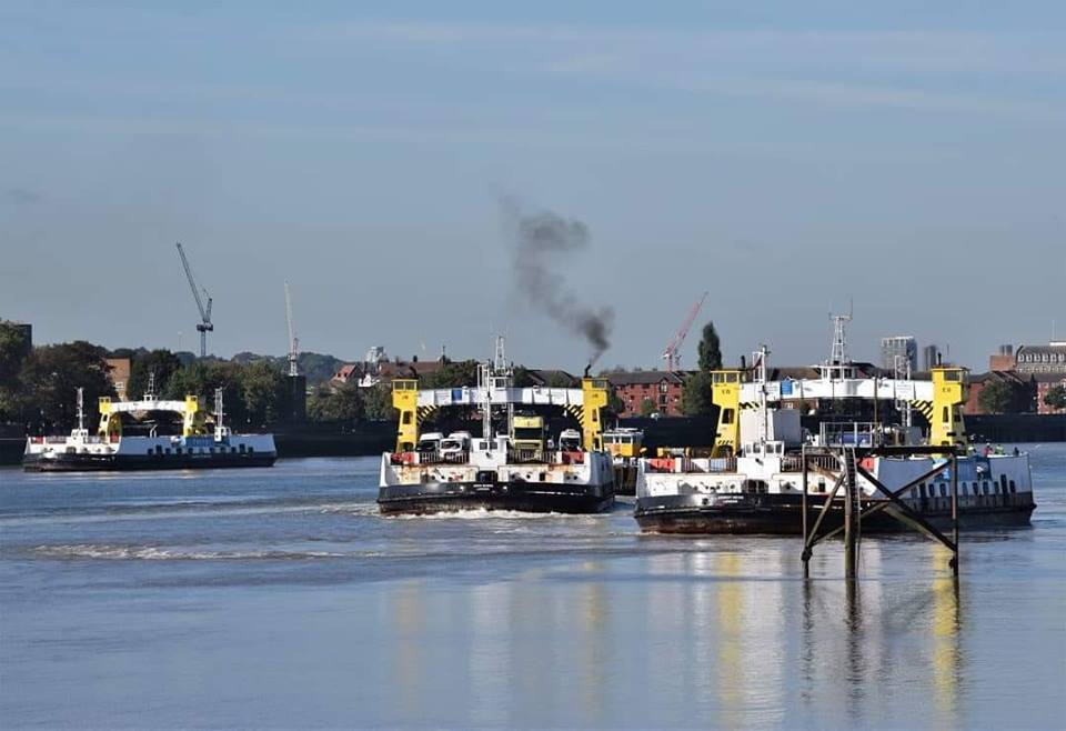 WOOLWICH FREE FERRIES X 3 (NORTH WOOLWICH) 24-9-18 LAST DAY (A CHRISTY)