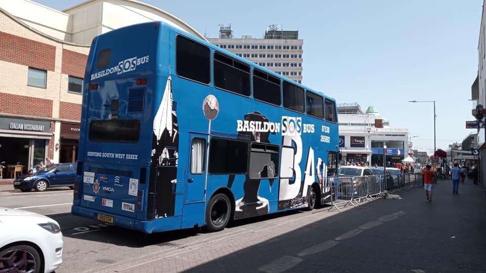 X612EGK BASILDON SOS BUS (SOUTHEND) 29-6-19 (S AUSTIN)