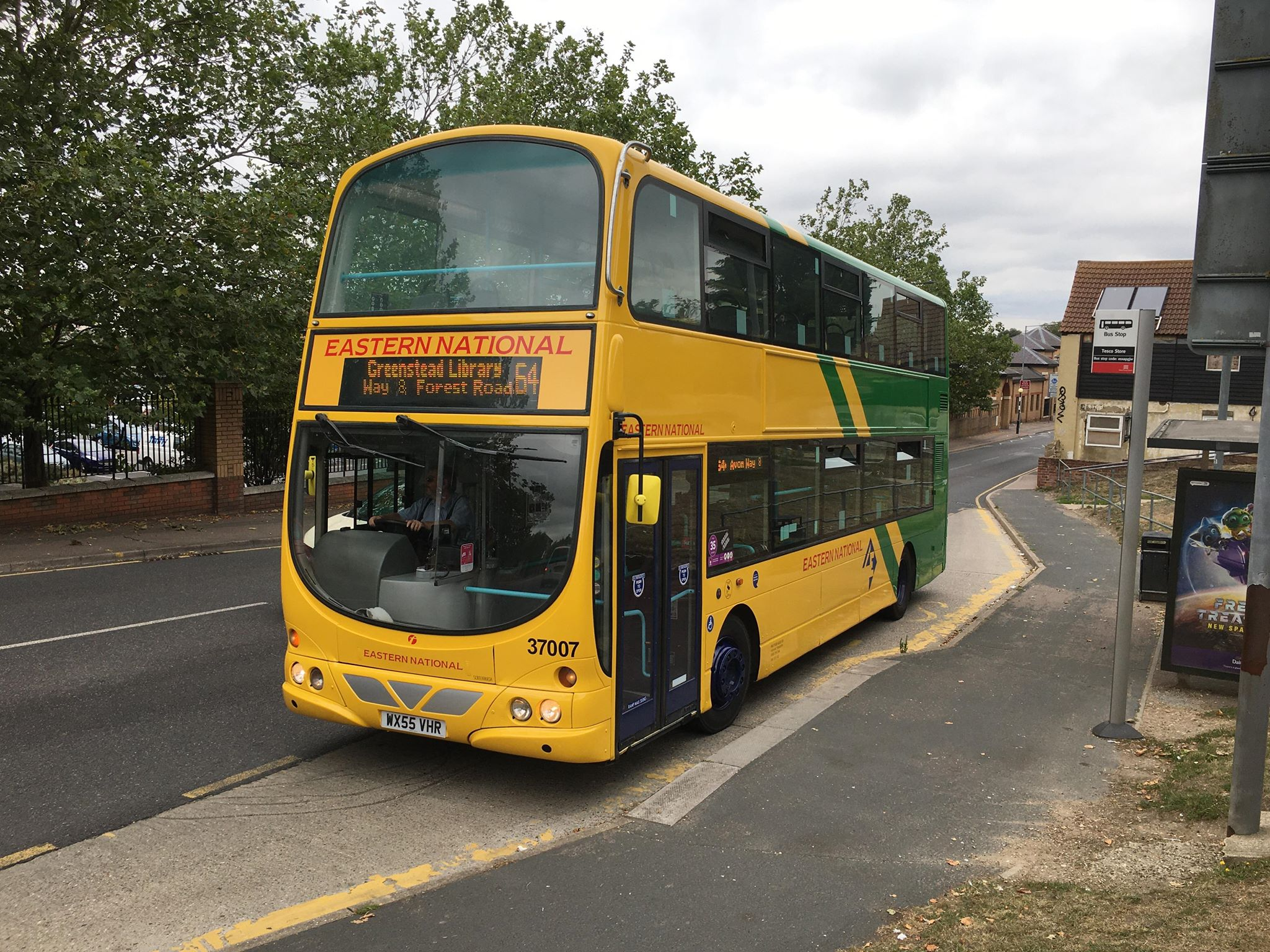WX55VHR 37007 FE EN HERITAGE LIVERY 64A (GREENSTEAD RD, CR) 6-8-20 (D PRETTY)