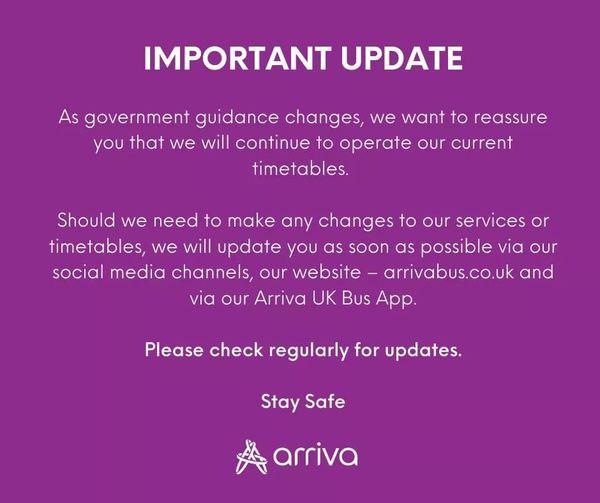 ARRIVA COVID UPDATE 1-21 (ARRIVA-TIM WEBB)